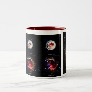 赤いSupergiant星の拡大の光エコー ツートーンマグカップ