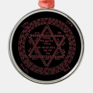 赤いtetragrammaton メタルオーナメント