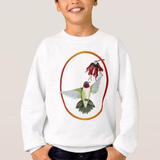 赤いThroatedハチドリの楕円形のワイシャツ スウェットシャツ