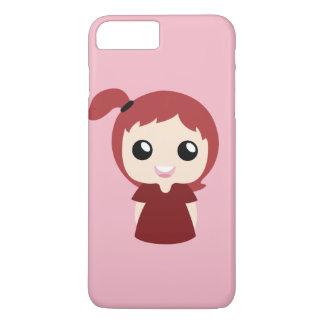 赤いtopknotの女の子 iPhone 8 plus/7 plusケース
