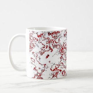 赤いWaterwashデザイナーマグ4 コーヒーマグカップ
