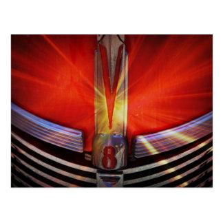 赤およびクロムV8 ポストカード