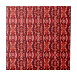 赤およびバーガンディのオーガニックなパターン タイル