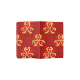 赤およびファンタジーの記号 ポケットMoleskineノートブック
