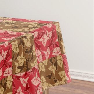赤およびブラウンの紅葉の秋の花柄のテーブルクロス テーブルクロス