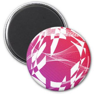 赤および明るい赤紫色の抽象的なグラフィック・デザイン マグネット