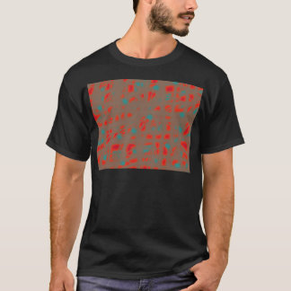 赤および茶色 Tシャツ
