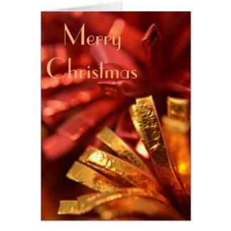 赤および金ゴールドのクリスマスカード グリーティングカード
