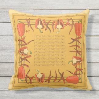 赤および金ゴールドのコショウは枕#2を設計しました アウトドアクッション