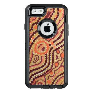 赤および金ゴールドの宇宙 オッターボックスディフェンダーiPhoneケース