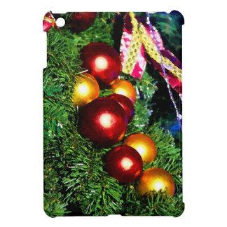 赤および金ゴールドの木のつまらないもの iPad MINIケース