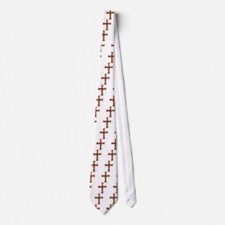 赤および金ゴールドの装飾用のキリスト教の十字 カスタムネクタイ