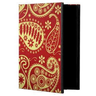 赤および金ゴールドペーズリー POWIS iPad AIR 2 ケース