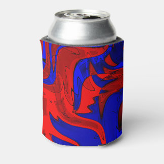 赤および青のファンシーなクーラーボックス 缶クーラー