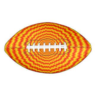 赤および黄色の大きい強打 アメリカンフットボール