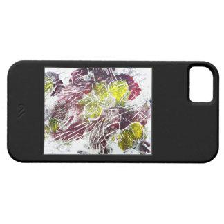 赤および黄色の抽象芸術。 葉。 黒 iPhone SE/5/5s ケース
