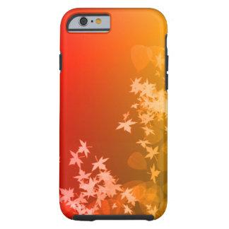 赤および黄色の葉のiPhone 6/6sの場合 ケース