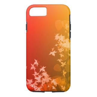 赤および黄色の葉のiPhone 7の場合 iPhone 8/7ケース