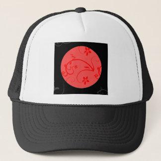 赤および黒のはっきりしたな表現 キャップ