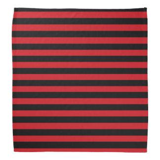 赤および黒のストライプのバンダナ バンダナ