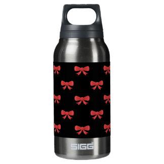 赤および黒の弓パターン 断熱ウォーターボトル