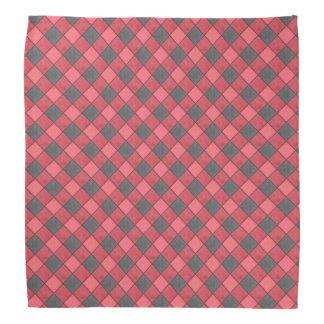 赤および黒の点検のバンダナの対角線 バンダナ