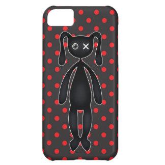 赤および黒のHarajukuの水玉模様のバニー iPhone5Cケース