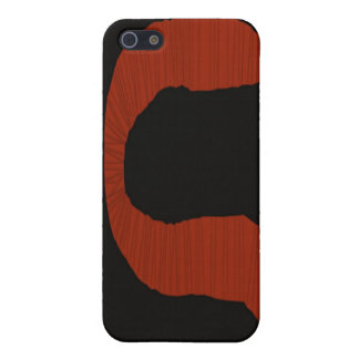 赤および黒ペーパーみみずのiPhoneの場合 iPhone 5 Cover