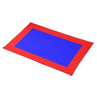 赤くおよび青のランチョンマット ランチョンマット
