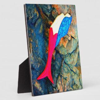 赤くおよび青の人魚 フォトプラーク