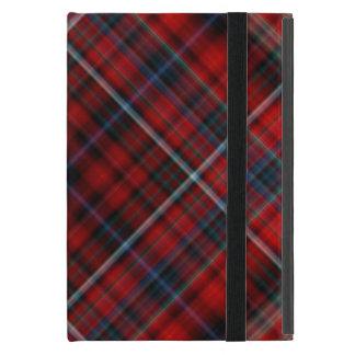 赤くおよび青の格子縞のiPad Miniのフォリオの場合 iPad Mini ケース