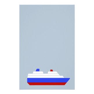 赤くおよび青の海の船 便箋