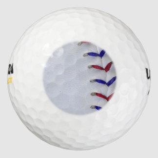 赤くおよび青の野球/ソフトボールのステッチ ゴルフボール