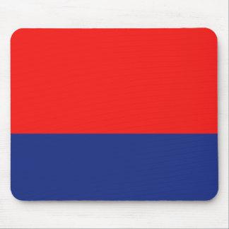 赤くおよび青のDemiストライプ マウスパッド