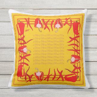 赤くおよび黄色のコショウは枕#2を設計しました クッション