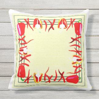 赤くおよび黄色のコショウは枕#4を設計しました クッション