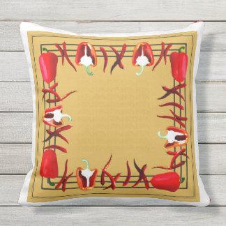 赤くおよび黄色のコショウは枕#5を設計しました アウトドアクッション