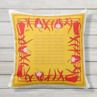 赤くおよび黄色のコショウは枕#6を設計しました クッション