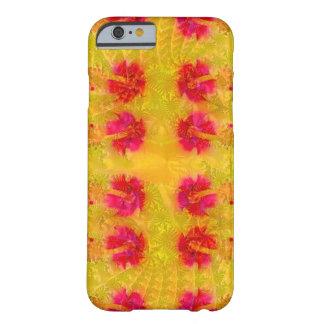 赤くおよび黄色のハイビスカス BARELY THERE iPhone 6 ケース