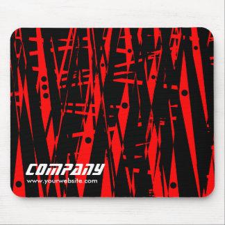 赤くおよび黒いのビジネスの抽象芸術 マウスパッド