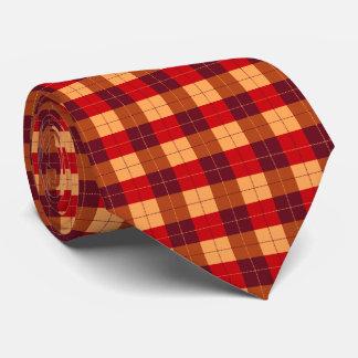 赤くおよび黒いデザイナー格子縞パターン オリジナルネクタイ