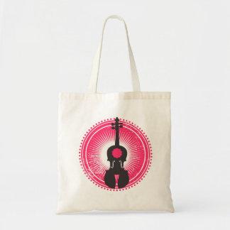 赤くおよび黒いバイオリンの戦闘状況表示板のバッグバイオリンのバッジ トートバッグ
