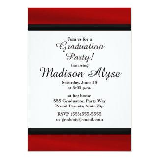 赤くおよび黒い卒業のパーティの招待状 カード
