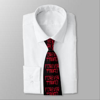 赤くおよび黒い永遠のタンゴ ネクタイ