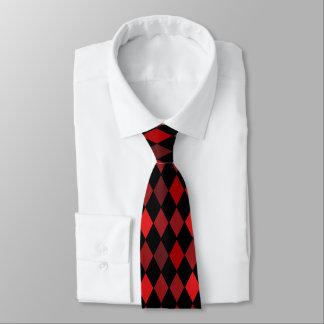 赤くおよび黒い道化師のダイヤモンドのタイ ネクタイ