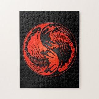 赤くおよび黒い陰陽の蠍 ジグソーパズル