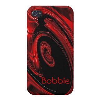 """赤くおよび黒い""""星雲""""のポップアートのiPhone 5の箱 iPhone 4/4S Case"""