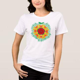 赤くか黄色島のリースのTシャツ Tシャツ