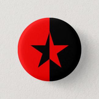 赤くか黒い星 3.2CM 丸型バッジ