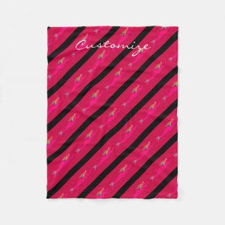 赤くか黒い水泳のピンクの人魚Thunder_Cove フリースブランケット